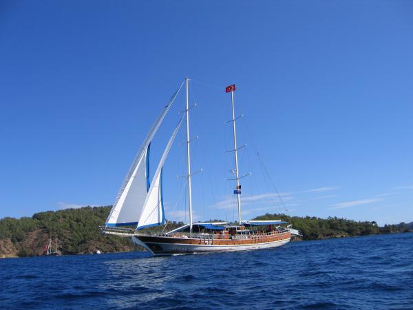 MS Tarkan 5 under sail