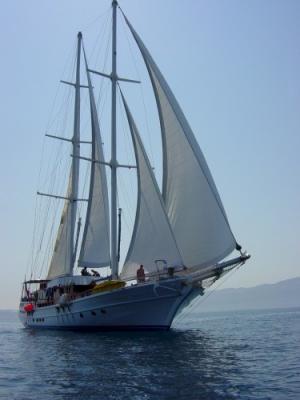 Aegean Clipper under sail