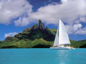 Catamaran in Bora Bora