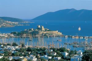 Bodrum is a popular plae for boarding yachts and gulets.