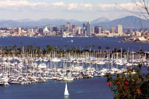 San Diego harbour and marina