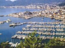 General view on Marmaris harbour and marina